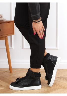 Dámské kotníkové Sneakersy v černé barvě