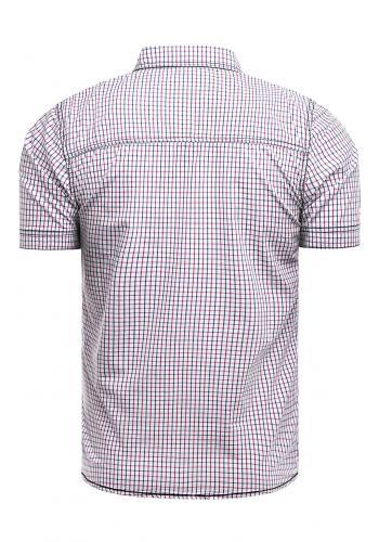 Modro-červená vzorovaná košile s krátkým rukávem pro pány