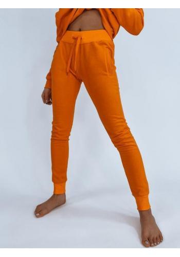 Oranžové klasické tepláky pro dámy