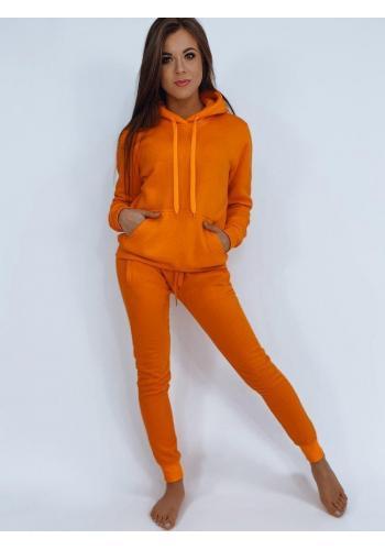 Dámská tepláková souprava v oranžové barvě