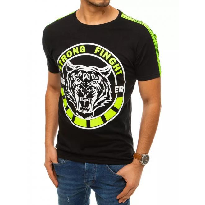 Pánské módní tričko s potiskem v černé barvě