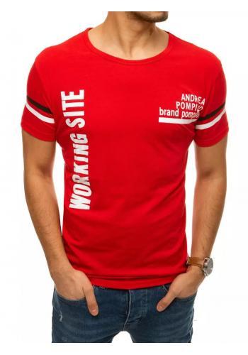 Červené sportovní tričko s potiskem pro pány
