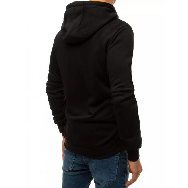 Černá módní mikina s potiskem pro pány