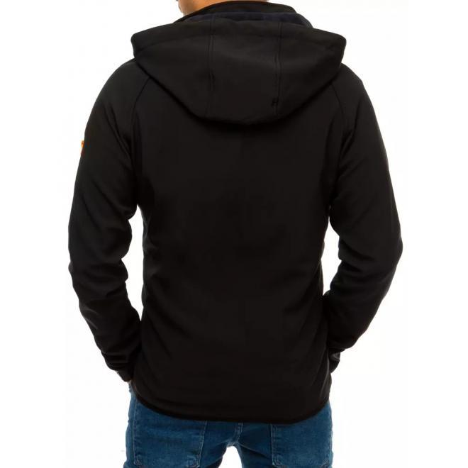 Softshellová pánská bunda černé barvy s potiskem