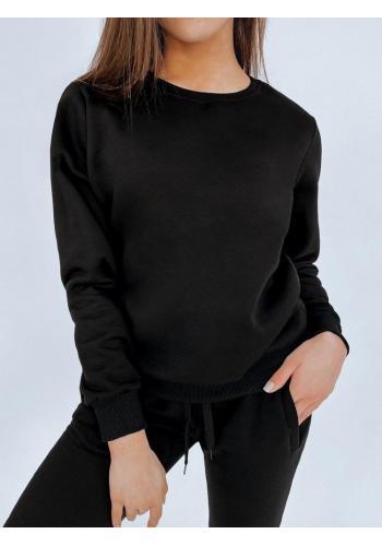 Černá klasická mikina bez kapuce pro dámy