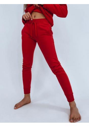 Klasické dámské tepláky červené barvy