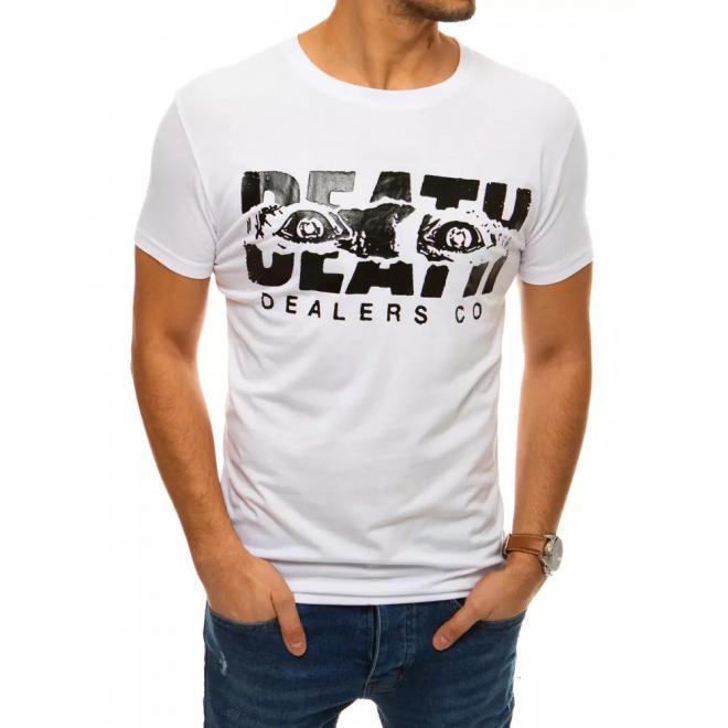 Pánské módní tričko s krátkým rukávem v bílé barvě