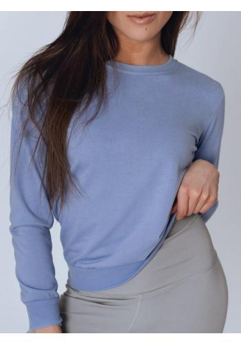 Klasická dámská mikina fialové barvy bez kapuce