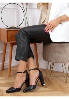 Dámské elegantní lodičky na módním podpatku v černé barvě
