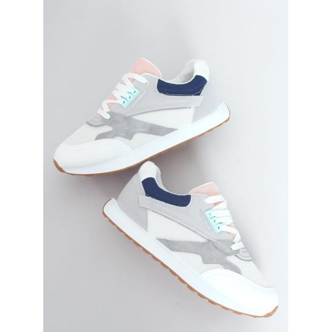 Sportovní dámské tenisky bílo-šedé barvy