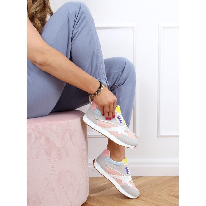Růžovo-šedé sportovní tenisky pro dámy