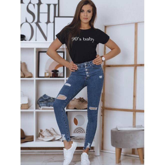 Černé bavlněné tričko s nápisem pro dámy