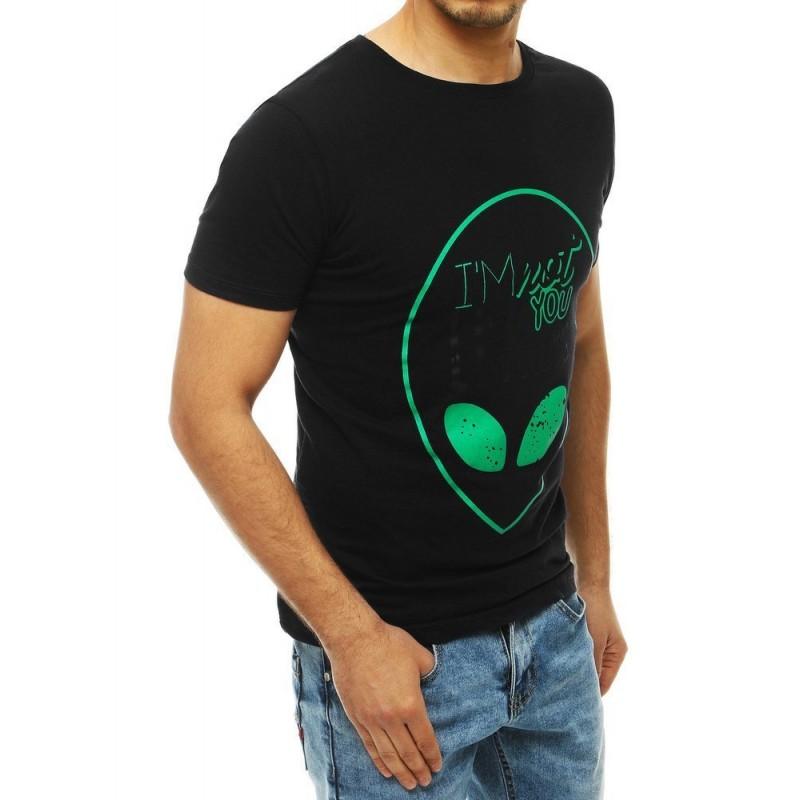 Černé klasické tričko s potiskem pro pány
