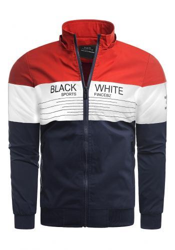 Červená přechodná bunda s odepínací kapucí pro pány