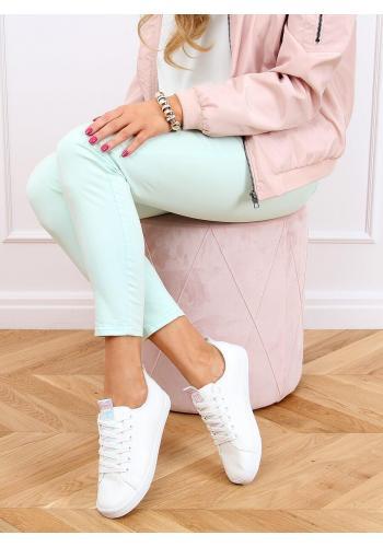 Klasické dámské tenisky bílé barvy s holografickými prvky