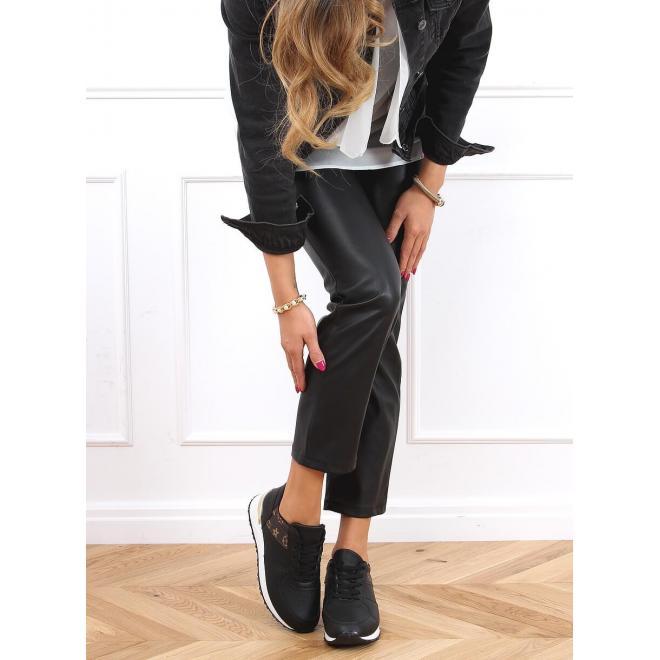Dámské módní tenisky v černé barvě