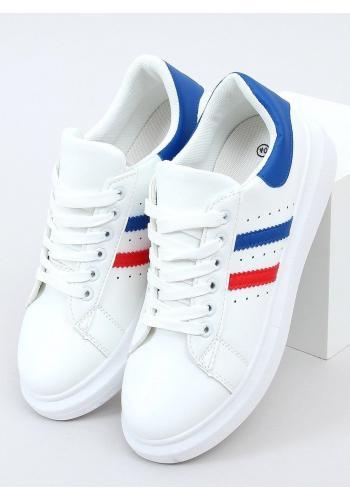 Bílo-modré klasické tenisky s vysokou podrážkou pro dámy