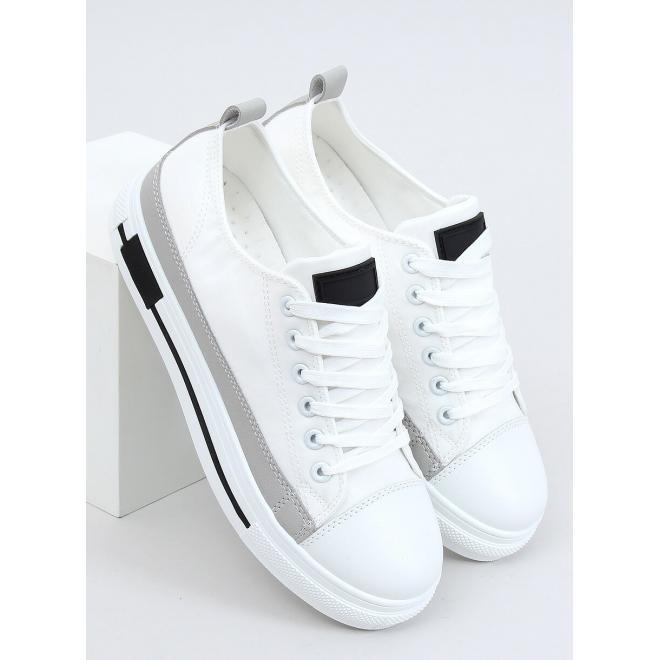 Bílé módní tenisky s vysokou podrážkou pro dámy