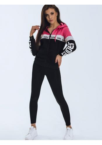 Sportovní dámská mikina černé barvy s potiskem
