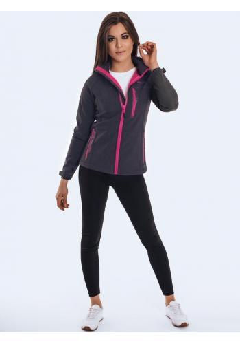 Šedá sportovní bunda na přechodné období pro dámy