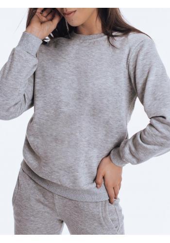 Dámská klasická mikina bez kapuce v šedé barvě