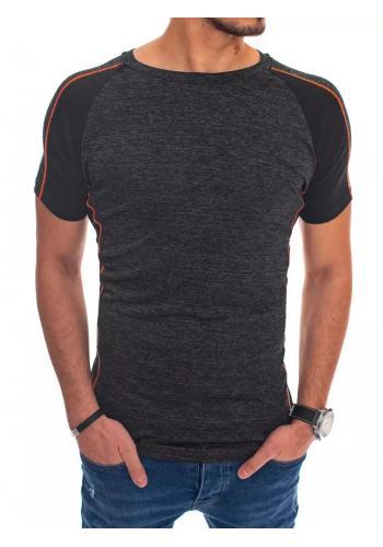 Módní pánské tričko černé barvy s krátkým rukávem