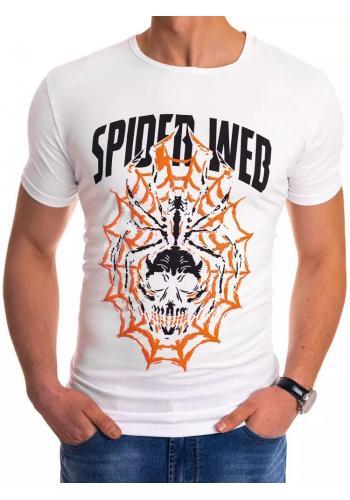 Módní pánské tričko bílé barvy s potiskem