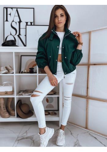 Oversize dámská bunda zelené barvy na přechodné období