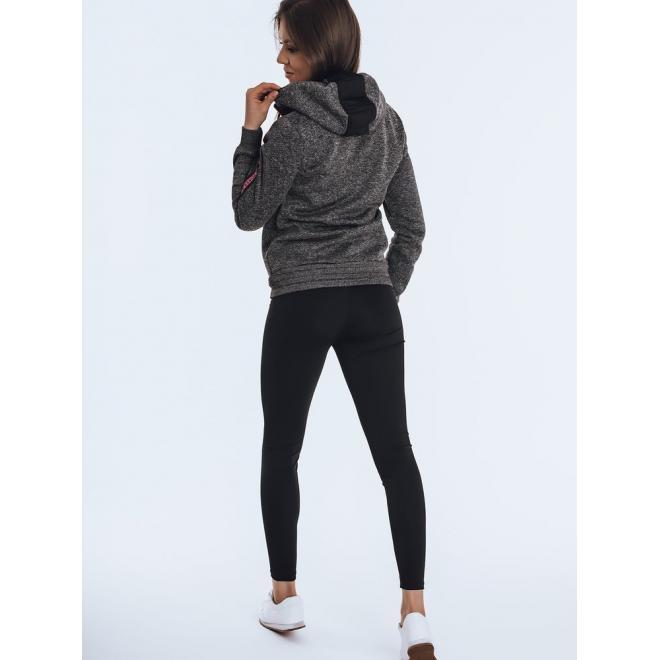 Černá sportovní mikina s kapucí pro dámy