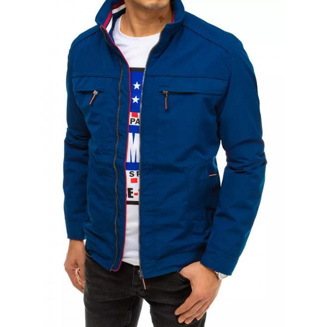 Modrá přechodná bunda pro pány