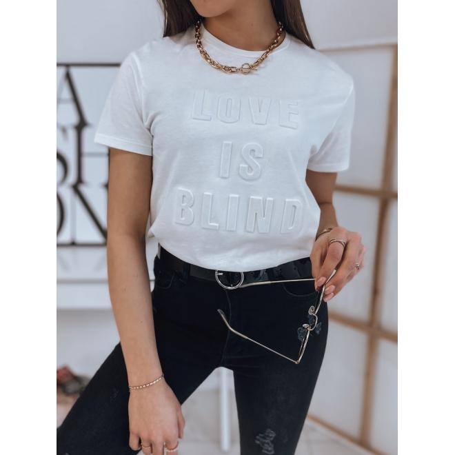 Bílé klasické tričko s potiskem pro dámy