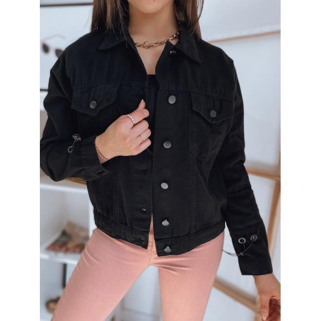 Černá riflová bunda pro dámy