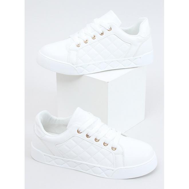Dámské prošívané tenisky v bílé barvě