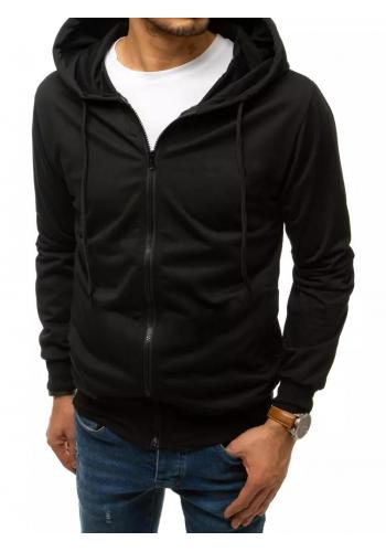 Pánská zapínaná mikina s kapucí v černé barvě