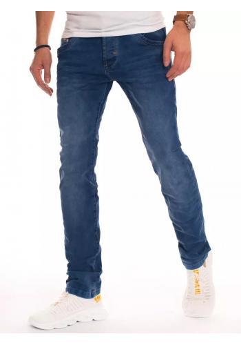 Stylové pánské rifle modré barvy se zúženými kalhotami