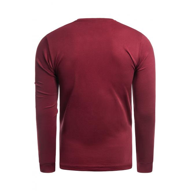 Červený klasický svetr pro pány