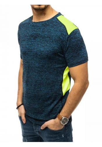 Sportovní pánské tričko modré barvy s kontrastními vložkami