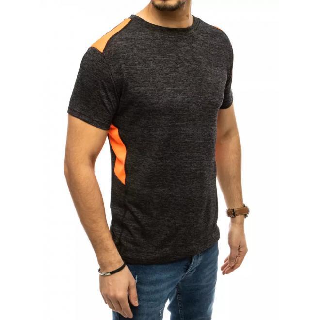 Černé sportovní tričko s kontrastními vložkami pro pány