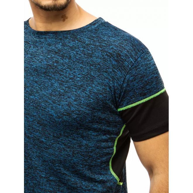 Modré módní tričko s kontrastními vložkami pro pány