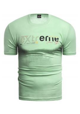 Klasické pánská trička zelené barvy s potiskem