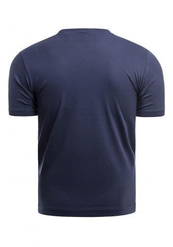 Pánské klasické tričko s potiskem v tmavě modré barvě