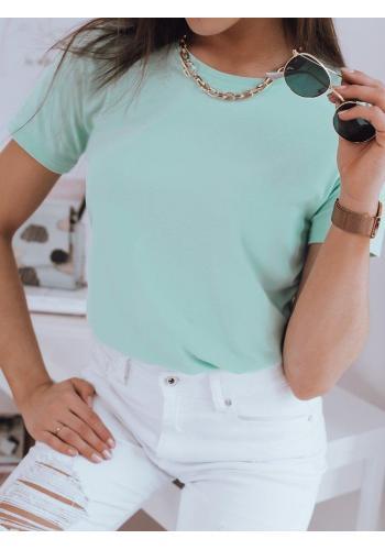 Dámské klasické tričko s krátkým rukávem v zelené barvě