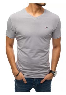 Světle šedé módní tričko s véčkovým výstřihem pro pány