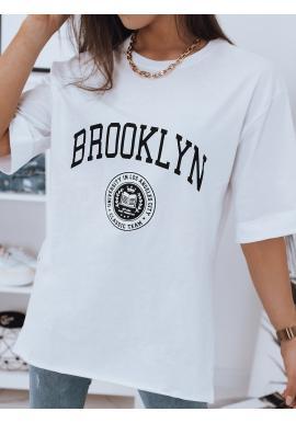 Dámské oversize tričko s rozparky v bílé barvě