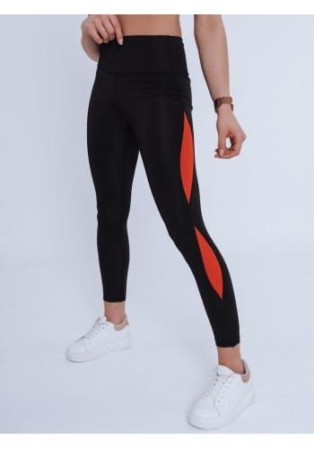 Sportovní dámské legíny černé barvy s vysokým pasem