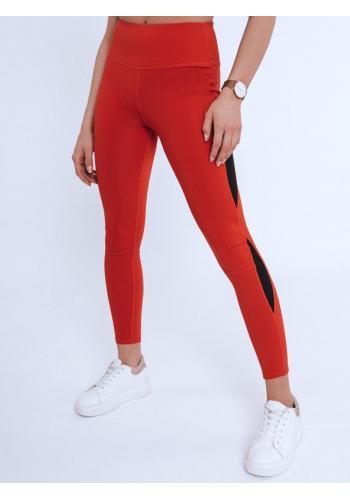 Červené sportovní legíny s vysokým pasem pro dámy
