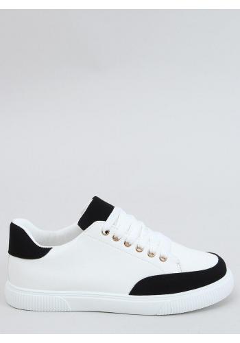 Bílo-černé klasické tenisky se semišovými vložkami pro dámy