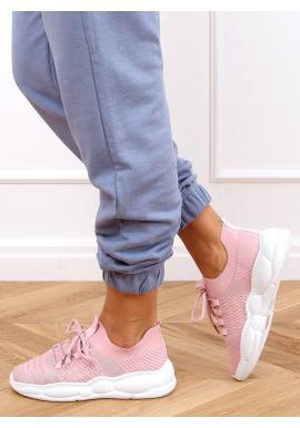 Sportovní dámské tenisky růžové barvy se stylovou podrážkou