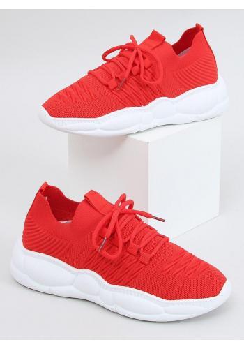 Červené sportovní tenisky se stylovou podrážkou pro dámy