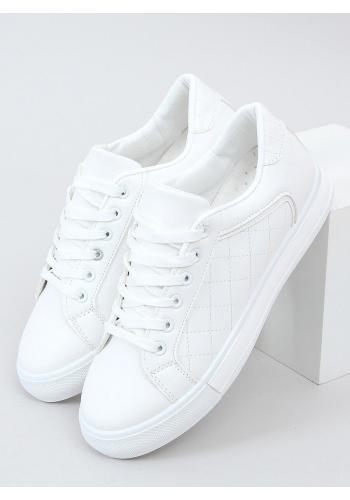 Klasické dámské tenisky bílé barvy s prošívaným vzorem